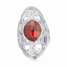 奥地利水晶戒指--流水画屏幽(水晶红岩)