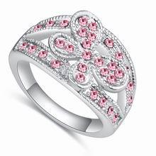 奥地利水晶戒指--浣溪沙(浅玫红)