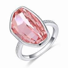 奥地利水晶戒指--晚霞明(浅玫红)