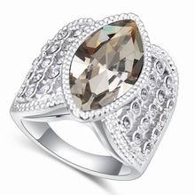 奥地利水晶戒指--情疏迹远(黑钻石)