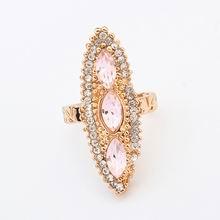 欧美时尚小菱形戒指(粉色)