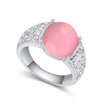 奥地利水晶戒指--独立(浅粉)