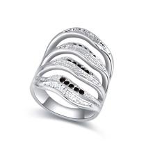 奥地利水晶戒指--溢迷(黑色)