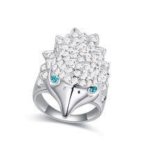 奥地利水晶戒指--火云战豹(彩白)