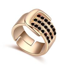奥地利水晶戒指--皮带扣(黑色)