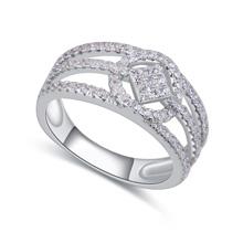 S925纯银戒指--爱情方心