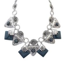 欧美时尚大气方形项链(灰色)