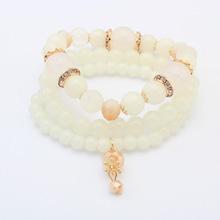 欧美时尚小清新串珠手链(白色)