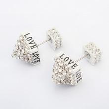 欧美时尚塔尖耳环(白色)