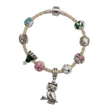 欧美时尚可爱猫头鹰手链(白色)