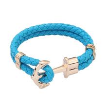 欧美时尚小清新麻绳手链(蓝色)