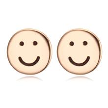 镀真金耳环--微笑pasta(香槟金)