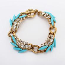 欧美时尚树叶手链(蓝色)