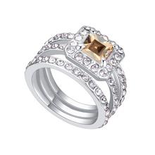 AAA级锆石戒指----方块情缘(金色魅影)