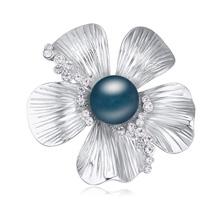 奥地利水晶胸针--嫣然笑(深蓝)