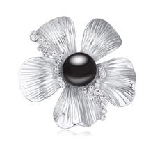 奥地利水晶胸针--嫣然笑(黑)