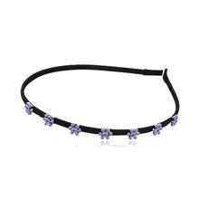 奥地利水晶头箍--指尖上的花朵(藕荷紫)