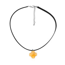 奥地利水晶项链--经典十字(黄水晶)
