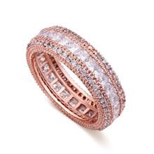 AAA级微镶锆石戒指--紫苑尾(玫瑰金)