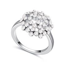 进口水晶戒指--花蕊娇艳(白色)