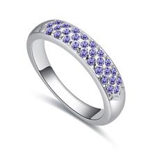 进口水晶戒指--城歌(藕荷紫)