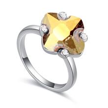 奥地利水晶戒指--琼花玉叶(玫瑰金)