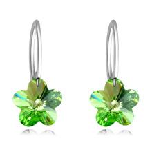 奥地利水晶耳环--梅雪(橄榄)