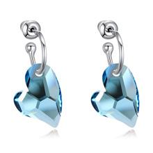 奥地利水晶耳环--终生守护(海蓝)