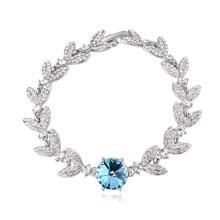 奥地利水晶手链--雁芙(海蓝)