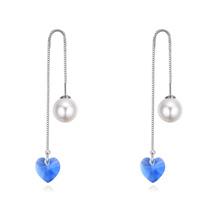奥地利水晶耳环--欣雨(蓝色)