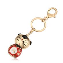 钥匙扣--福娃(香槟金+红色)