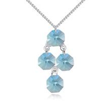 奥地利水晶项链--离一(海蓝)