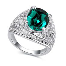 进口水晶戒指--可人(绿色)