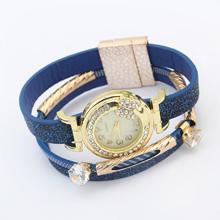 欧美时尚复古手表(蓝色)