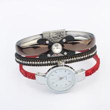 欧美时尚蝴蝶结手表(红色)