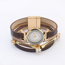 欧美时尚星星点点手表(深咖)