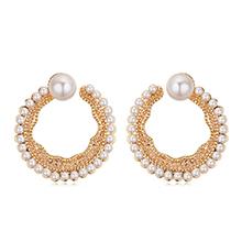 镀真金耳环--温婉珍珠