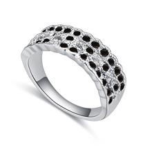 进口水晶戒指--春光明媚(黑)