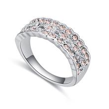进口水晶戒指--春光明媚(浅蜜桃)