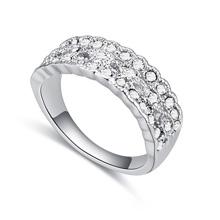 进口水晶戒指--春光明媚(白色)