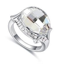 奥地利水晶戒指--粉妆玉琢(白色)