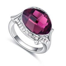 奥地利水晶戒指--粉妆玉琢(紫色)