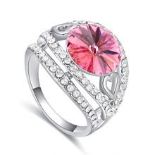 奥地利水晶戒指--春色撩人(玫红)