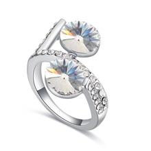奥地利水晶戒指--暗香疏影(彩白)