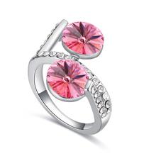 奥地利水晶戒指--暗香疏影(玫红)