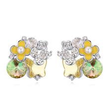 奥地利水晶耳环--大地回春(黄色)