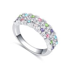进口水晶戒指--点点滴滴(彩色)