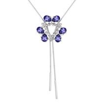奥地利水晶毛衣链--蝶恋花(藕荷紫)