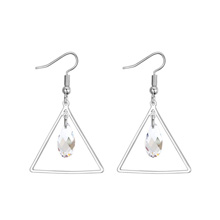 奥地利水晶耳环--幸福眼泪(白色)
