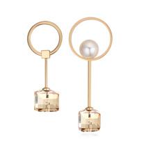 奥地利水晶耳环--与众不同(香槟金+金色魅影)